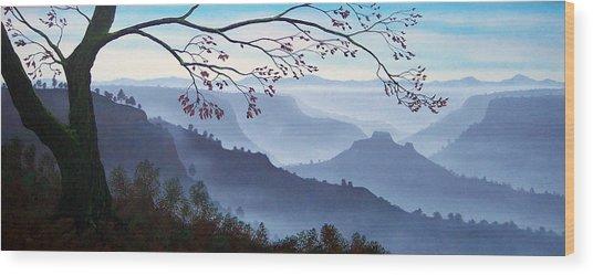 Butte Creek Canyon Mural Wood Print