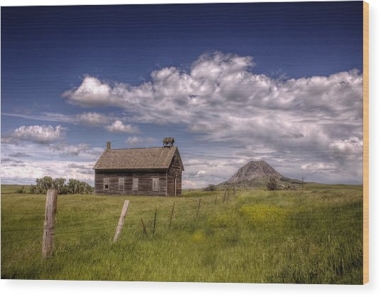 Butte View Wood Print