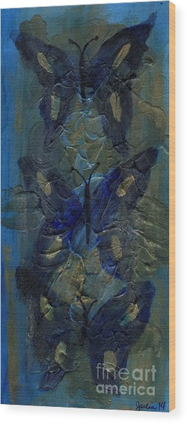 Butterflies Of Past Wood Print