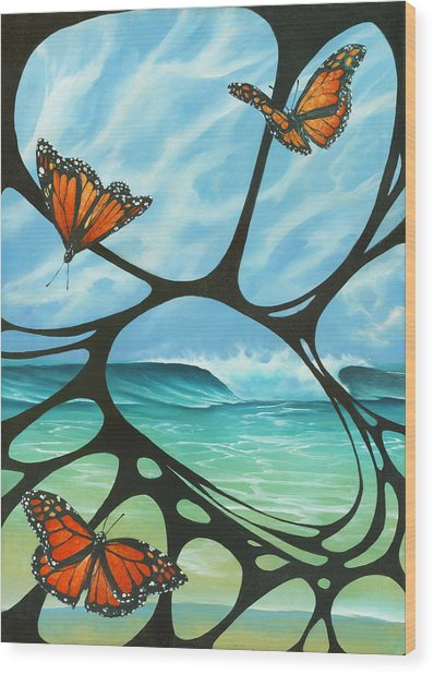 Butterfly Beach Wood Print
