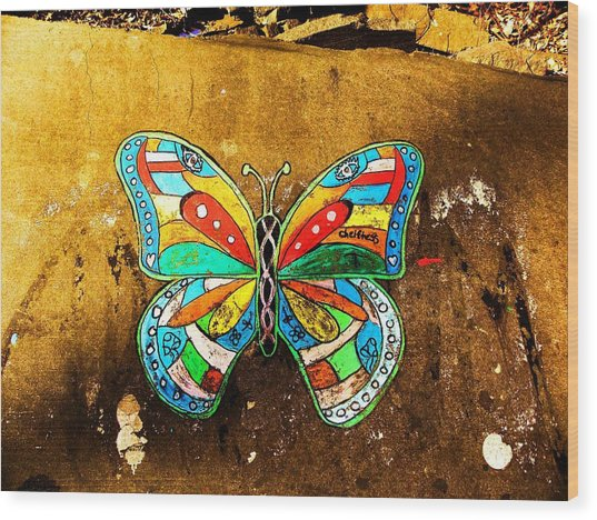 Butterfly Wood Print by Christian Rooney
