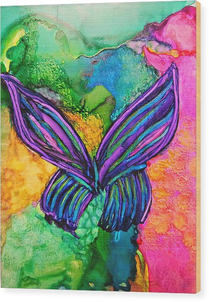Butterfly Effect Wood Print