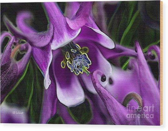 Butterfly Garden 04 - Columbine Wood Print