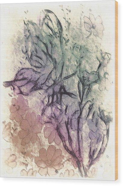 Butterfly Happiness Wood Print by Jill Balsam