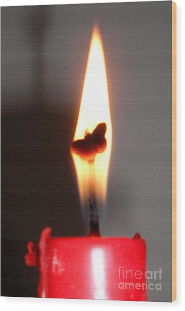 Butterfly Flame Wood Print