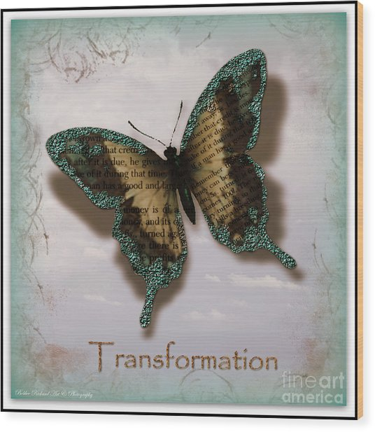Butterfly Of Transformation Wood Print