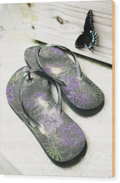 Butterfly Summer Wood Print
