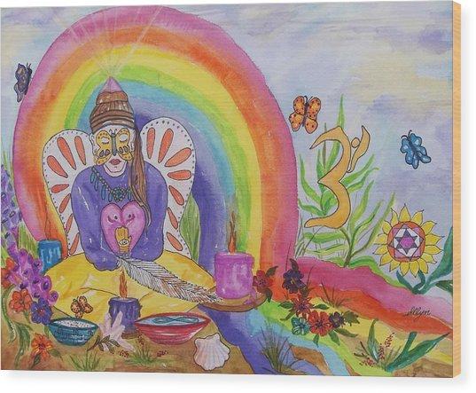 Butterfly Woman Healer I Am Wood Print