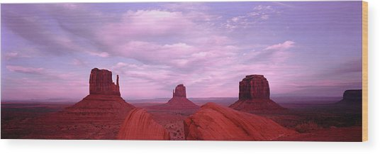 Buttes At Sunset, The Mittens, Merrick Wood Print