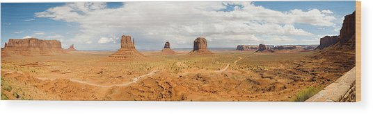 Buttes In A Desert, The Mittens Wood Print