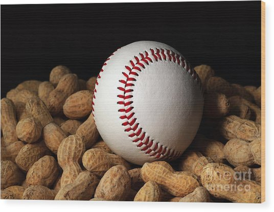 Buy Me Some Peanuts - Baseball - Nuts - Snack - Sport Wood Print