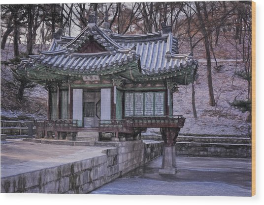 Buyongjeong Pavilion In Secret Garden II Wood Print