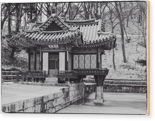 Buyongjeong Pavilion In Secret Garden Wood Print