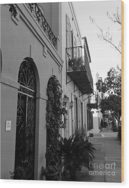 Charleston Wood Print