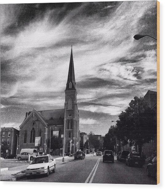 Bw Hanover Street Wood Print