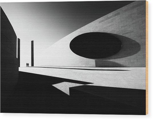 B&w Harmony Wood Print
