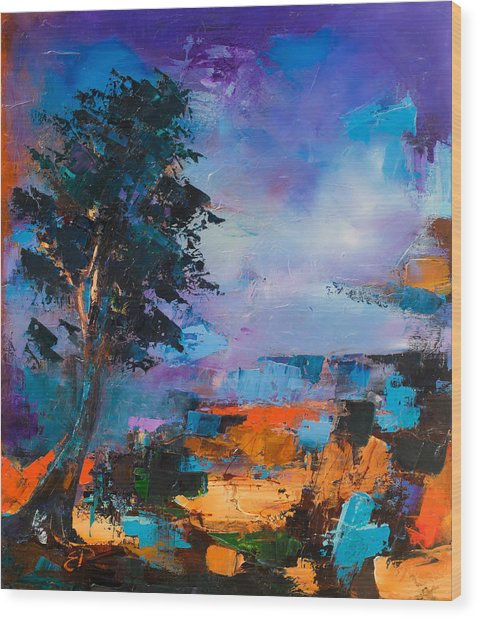 By The Canyon Wood Print