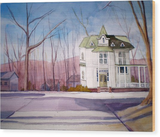 By The Water Tower Wood Print by Joe Lanni