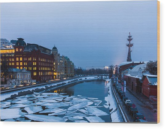Bypass Canal Of Moscow River - Featured 3 Wood Print