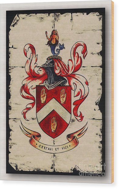 Byrne Coat Of Arms Wood Print