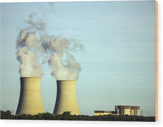 Byron Nuclear Plant Wood Print
