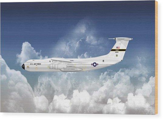 C-141a Starlifter Wood Print by Arthur Eggers
