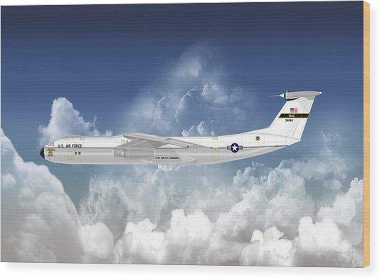 C-141b Starlifter Wood Print by Arthur Eggers