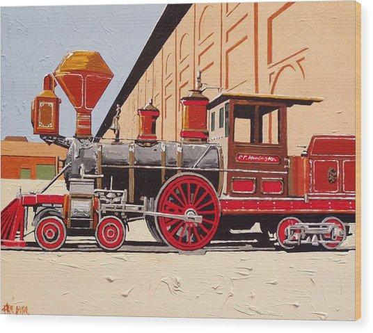 C P Huntington Wood Print by Paul Guyer