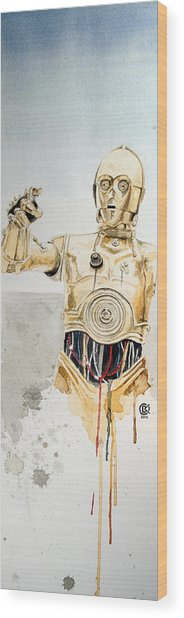 C3po Wood Print by David Kraig