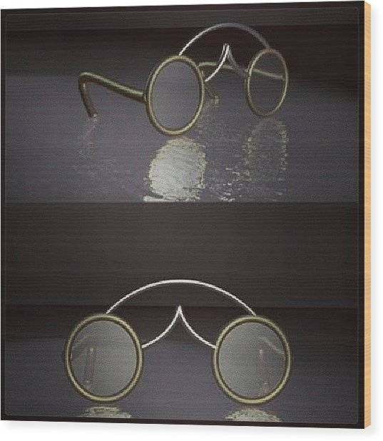 Spectacles  Wood Print