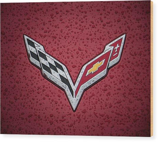 C7 Badge Wood Print