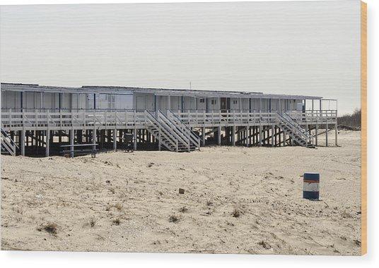 Cabanas Breezy Point Surf Club Wood Print
