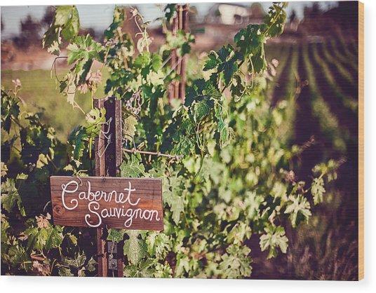 Cabernet Vineyards Wood Print