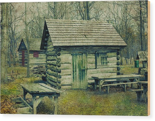 Cabins In The Woods Wood Print