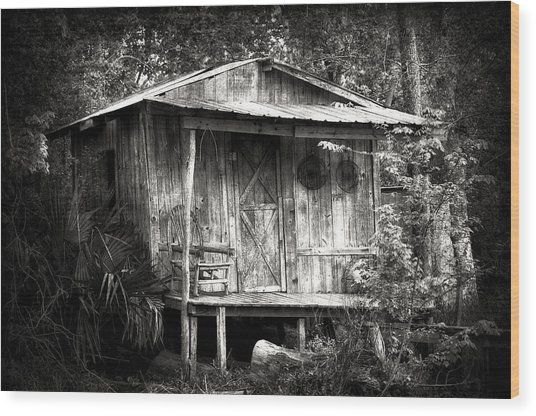 Cabins Of Southern Louisiana Wood Print