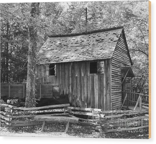 Cable Grist Mill 1 Wood Print by Mel Steinhauer