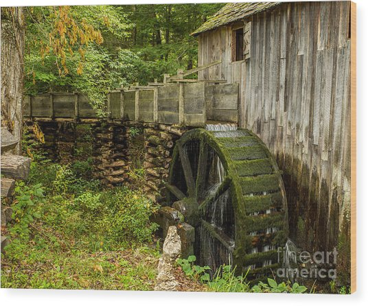 Cable Mill Cades Cove Wood Print
