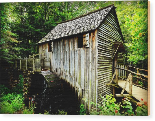 Cable Mill - Cades Cove Wood Print
