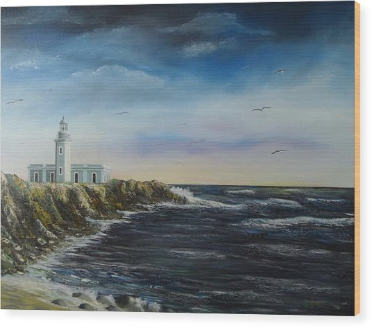 Cabo Rojo Lighthouse Wood Print by Tony Rodriguez