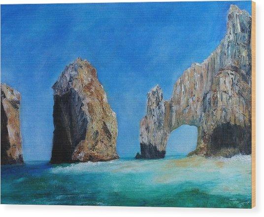 Cabo San Lucas Wood Print by Anais DelaVega