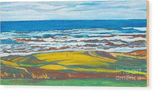 Cabot Links # 14 Wood Print by Frank Giordano