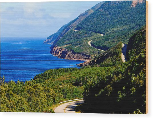 Cabot Trail Wood Print