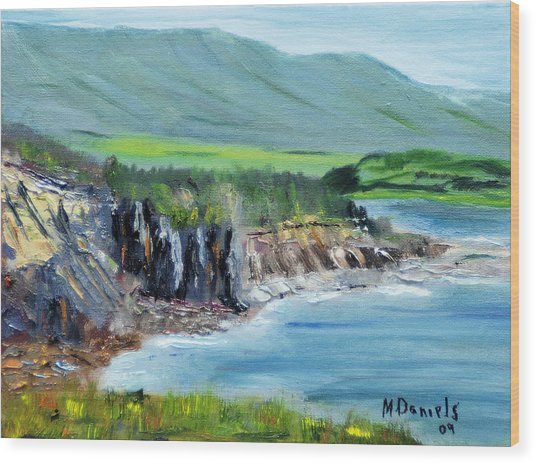 Cabot Trail Coastline Wood Print