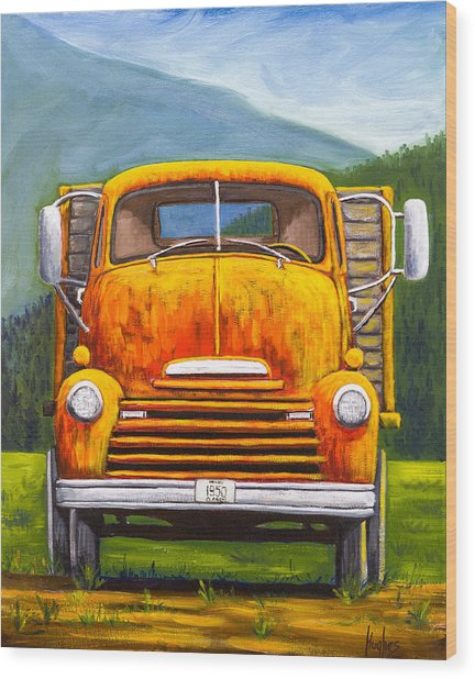 Cabover Truck Wood Print