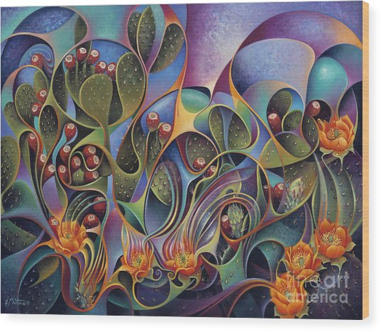 Cactus Dinamicus Wood Print