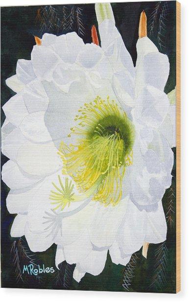 Cactus Flower II Wood Print