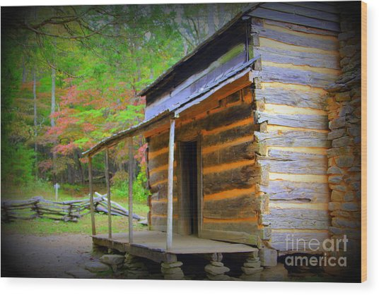 Family Heritage Cades Cove Wood Print