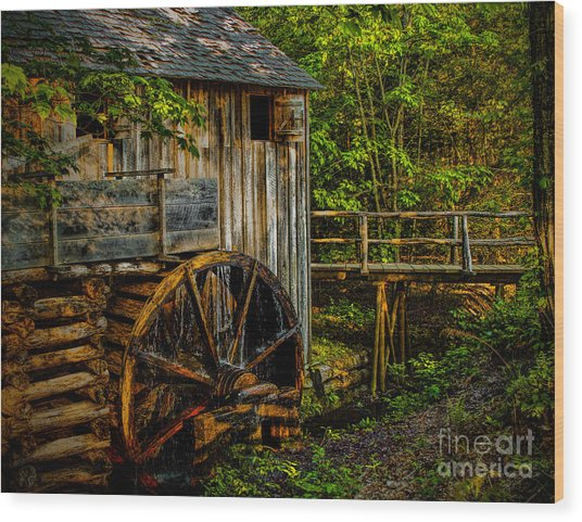 Cades Cove Mill Painted Wood Print
