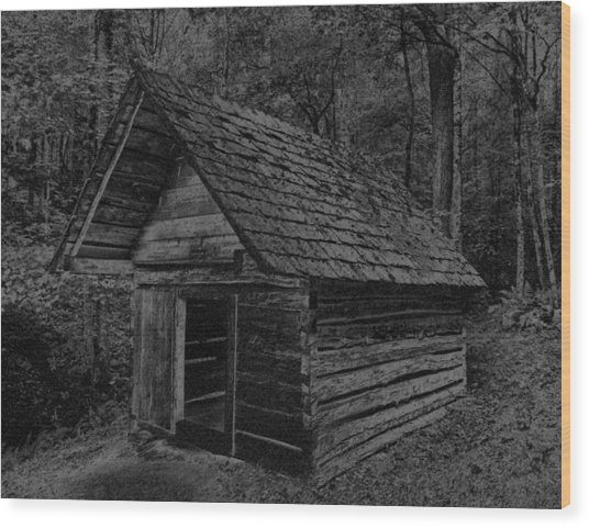 Cades Cove Shed Wood Print by Gary Rieks