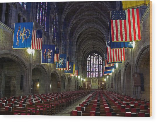 Cadet Chapel At West Point Wood Print